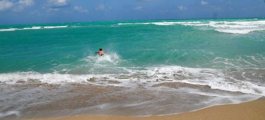 miami beach skok v morje