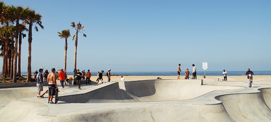 venice beach skate plaza photos
