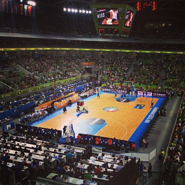 Eurobasket - dvorana Stožice med tekmo