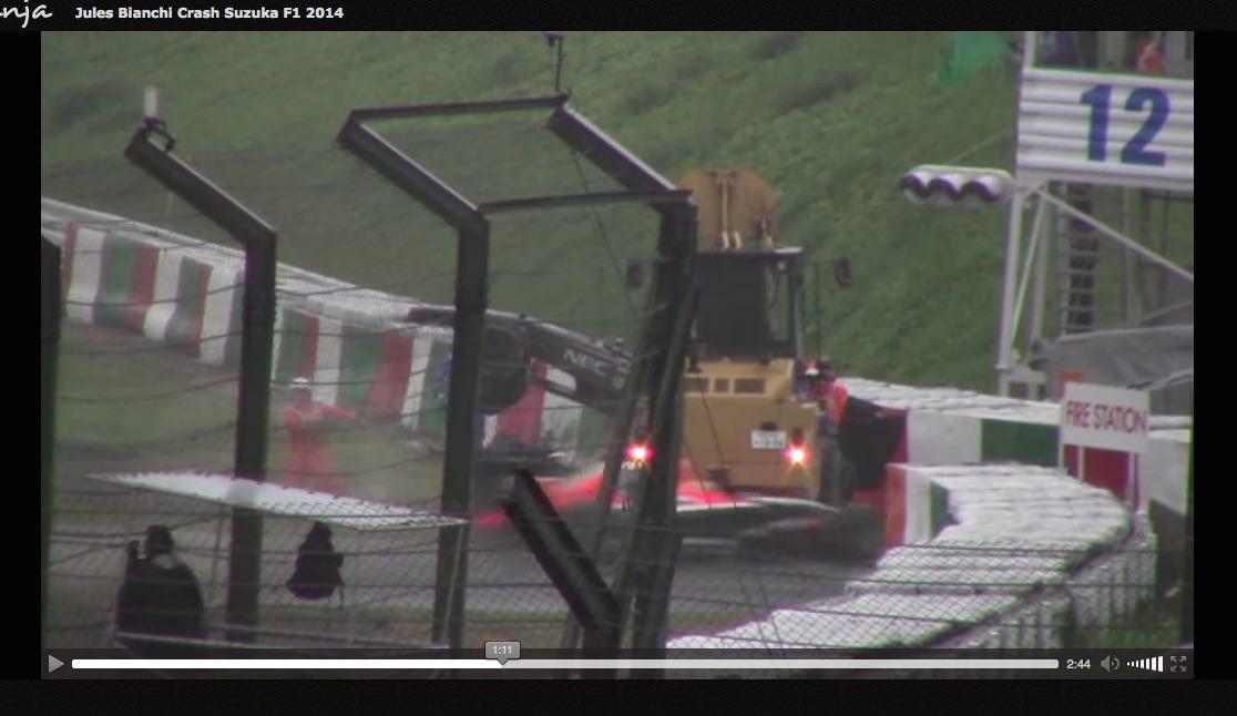 Jules Bianchi Crash Suzuka F1 2014