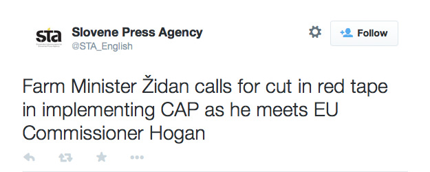Slovene_Press_Agency_on_Twitter_Farm_Minister_Židan_calls_for_cut_in_red_tape_in_implementing_CAP_as_he_meets_EU_Commissioner_Hogan