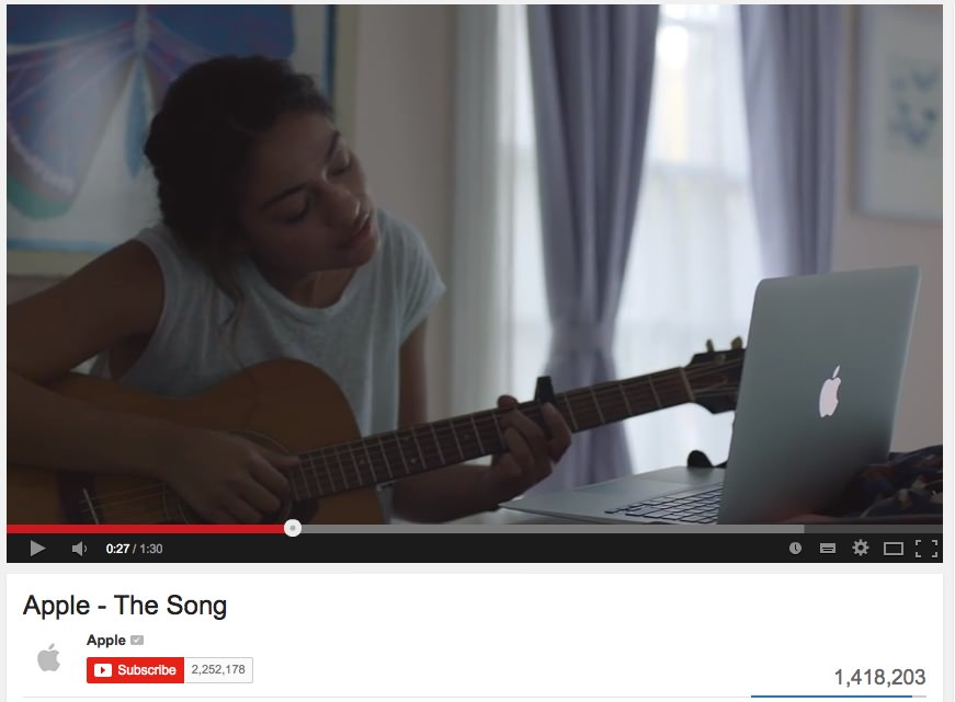 Apple - The Song - oglas