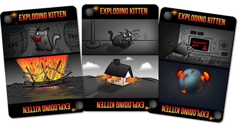 Exploding kittens card game - Kickstarter