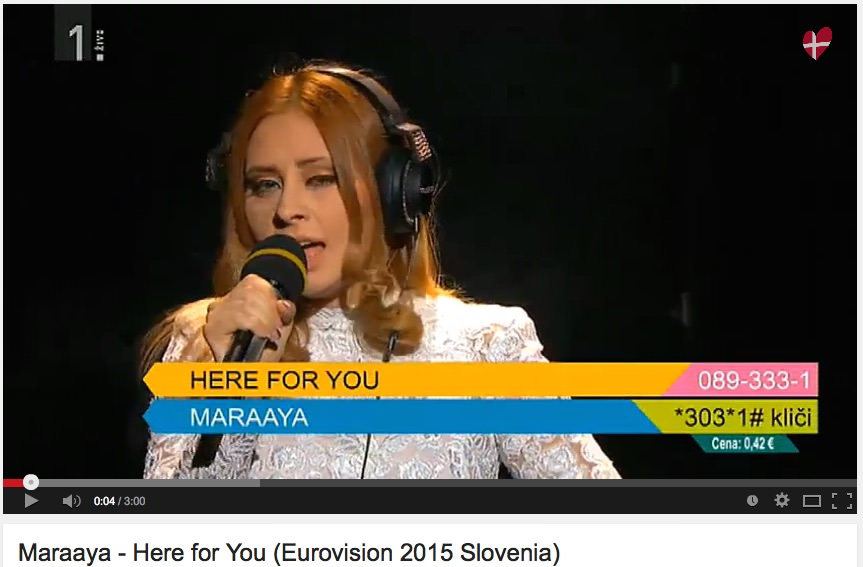 Maraaya - Here for you / Eurosong - Raay in Marjetka Vovk