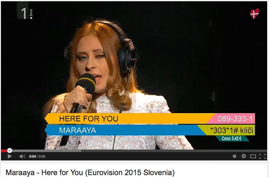 Maraaya - Here for you / Eurosong - Raay in Marjetka Vovk