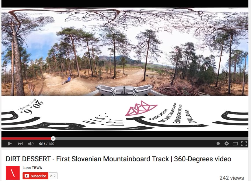 Dirt Dessert mountainboard proga in 360 stopinjski video