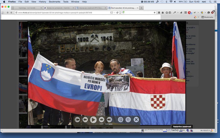 Desna zastava se začne z belo kocko - zastava NDH!