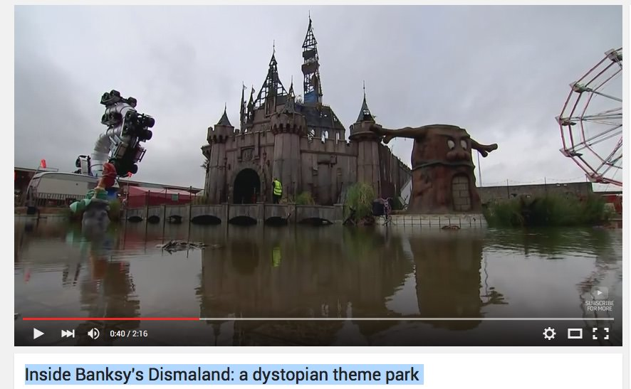 Banksy's Dismaland / distopični tematski park Dismaland