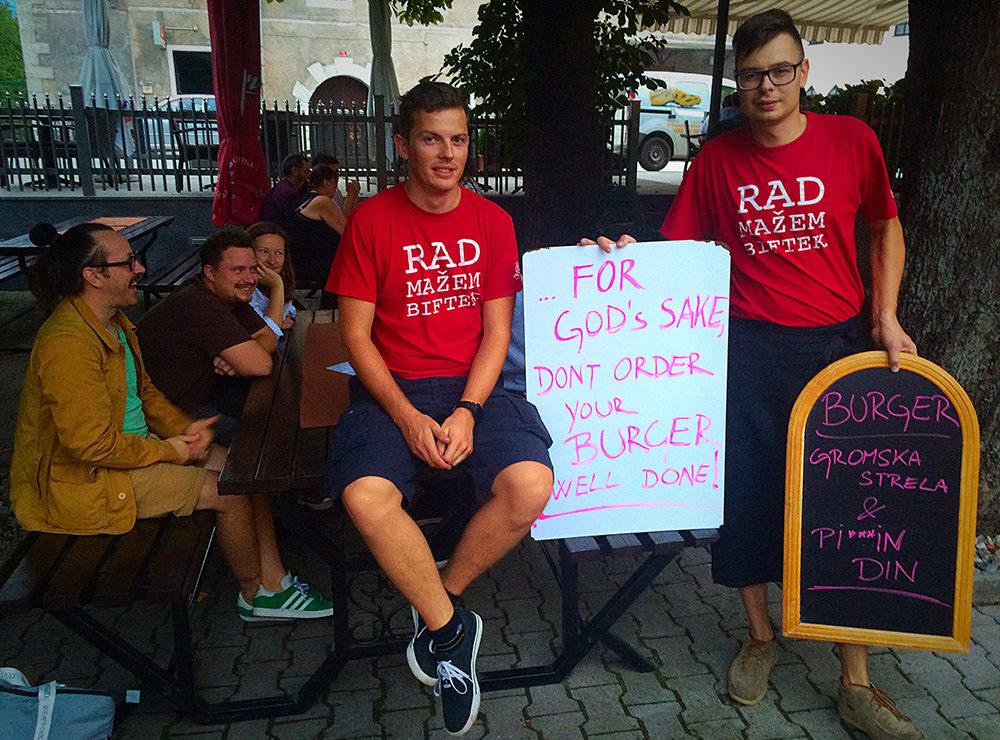 Andraž in Miha / burger kreatorja in ekipa iz Ljubljane :)