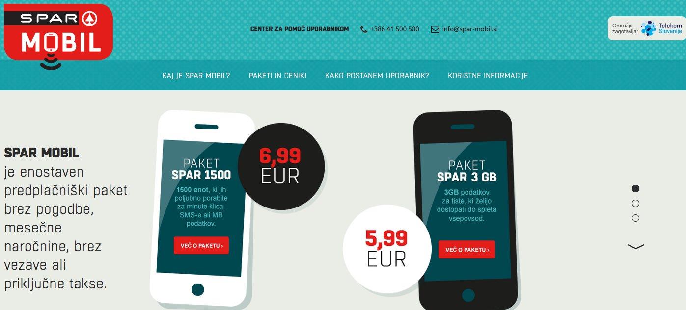 Spar Mobil – predplačniška mobilna telefonija
