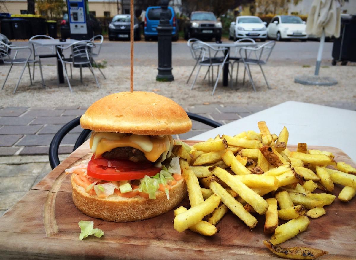 Dežela okusov / deželni burger z domačim krompirčkom