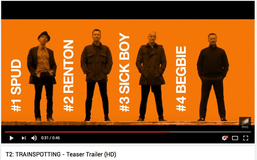 T2: Trainspotting / v kinodvoranah februarja 2017