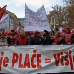 Rdeče - rumeno - modro - zelene delavske demonstracije 3