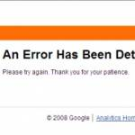 Error – Google Analytics