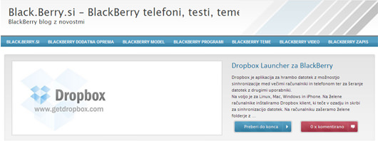 black berry si Spletni projekt Berry.si   BlackBerry Blog