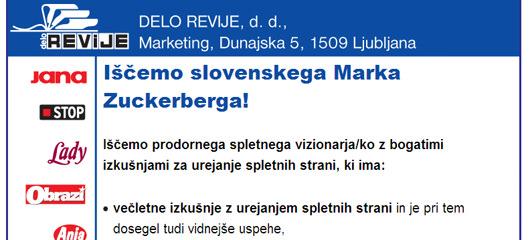markzuckerberg Delo Revije iščejo slovenskega Marka Zuckerberga