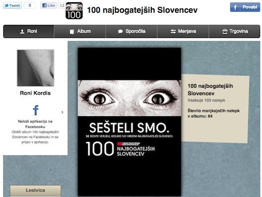 100 najbogatejsih Volitve 2011 in 100 najbogatejših Slovencev 2011   Facebook zbiranje slikic