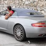 Audi R8 in Aston Martin DB9 Volante