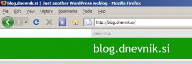 blog.dnevnik.si | Just another WordPress weblog 3