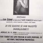 Eva Černe, ne bom glasoval zate! 1