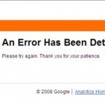 Error - Google Analytics