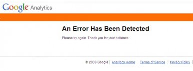 Error - Google Analytics