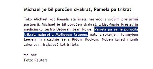 Pamela Anderson je bila poročena z Motleyem Crueom 2