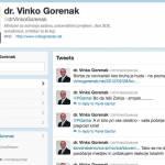 dr. Vinko Gorenak in njegovo tvitanje