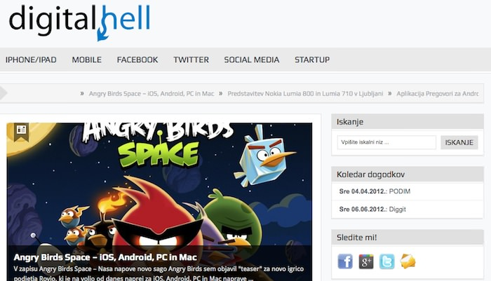 digital hell Angry Birds Space, Pinterest, Gone Wishing, Twitter, Facebook   digital hell