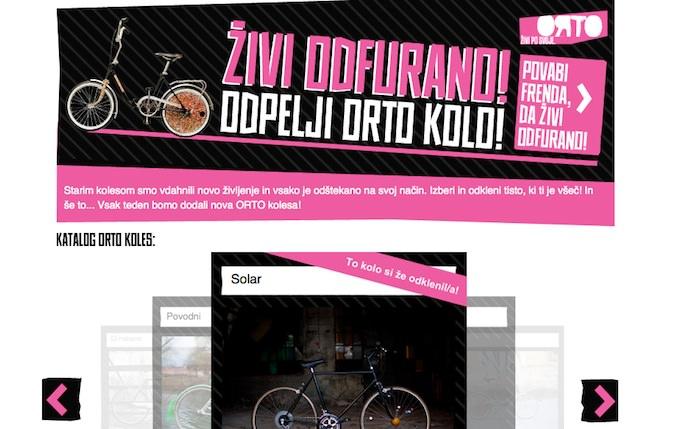 Živi odfurano   Orto kolesa   Simobil Facebook nagradna igra fotografije