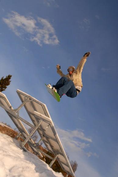 Vogel snowboard & ski photoshooting fotografije