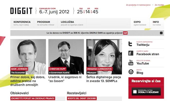 Konferenca Diggit   6. in 7. junij 2012 fotografije