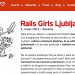 TSstartup in Rails Girls – prijavite se zdaj!