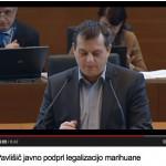 Poslanec Marko Pavlišič javno podprl legalizacijo marihuane