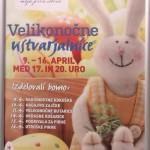 Interspar – velikonončna jajčka in velikonočni zajček s tičem