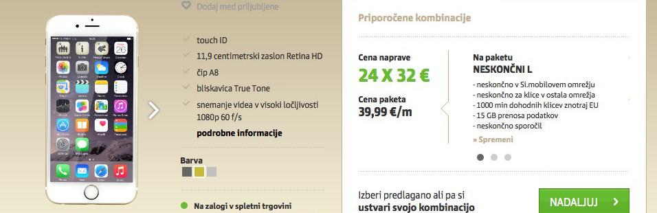 simobil - iphone 6 cena