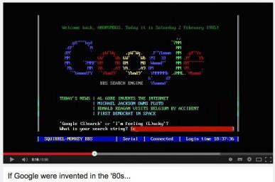 Kako bi izgledali Twitter, Google, Skype, Linkedin v 80ih letih