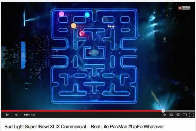 Super Bowl Commercial Budweiser PacMan
