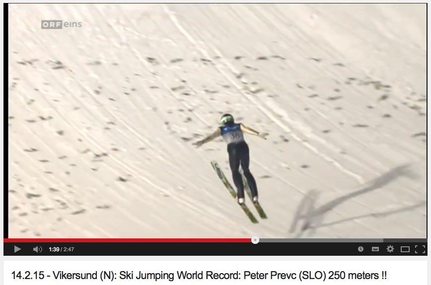 Peter Prevc - 250 metrov dolg poleg / skok