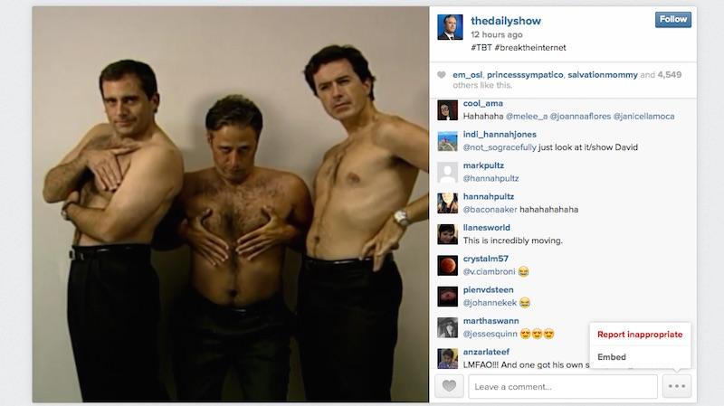 Steve Carell, Jon Stewart, Stephen Colbert #breaktheinternet