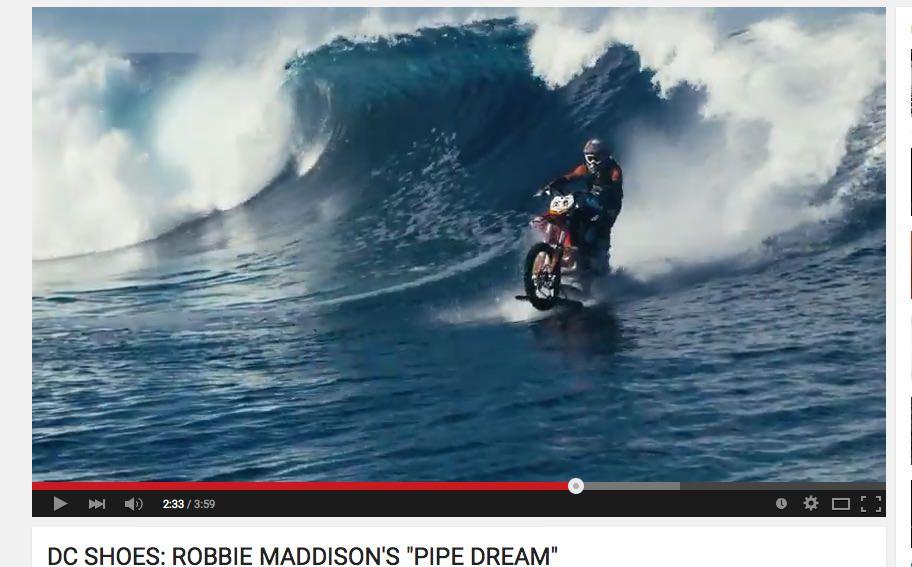 DC Shoes / Robbie Maddison / Pipe Dream / jahanje valov z motorjem
