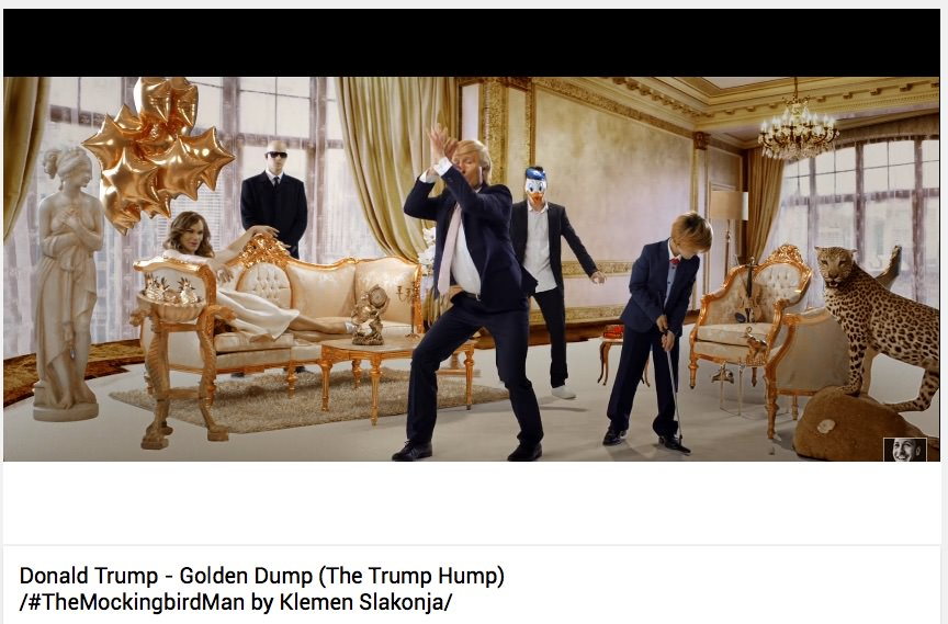 Klemen Slakonja / Donald Trump - Golden Dump / #TheMockingbirdMan