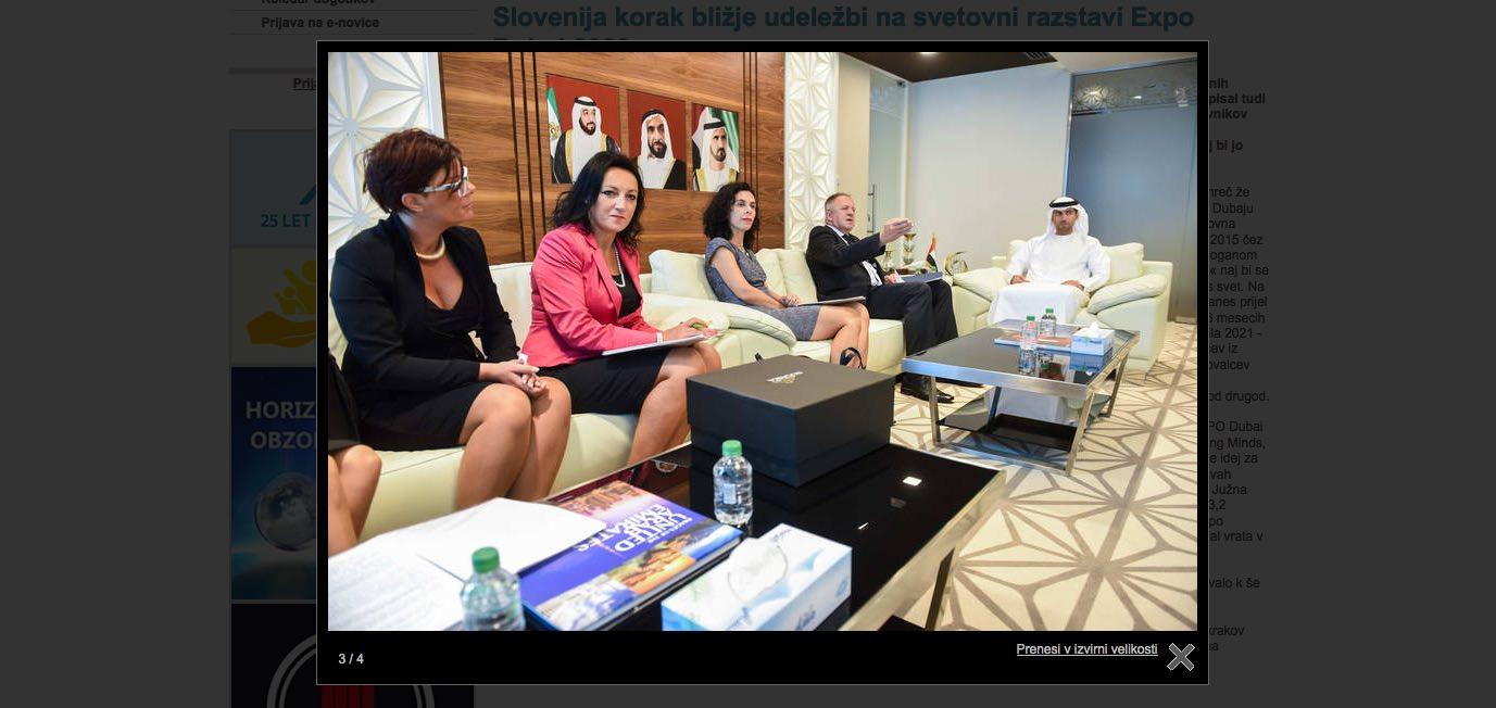 Zdravko Počivalšek in dame v dekoltejih in mini krilih v Združenih arabskih emiratih (ZAE)