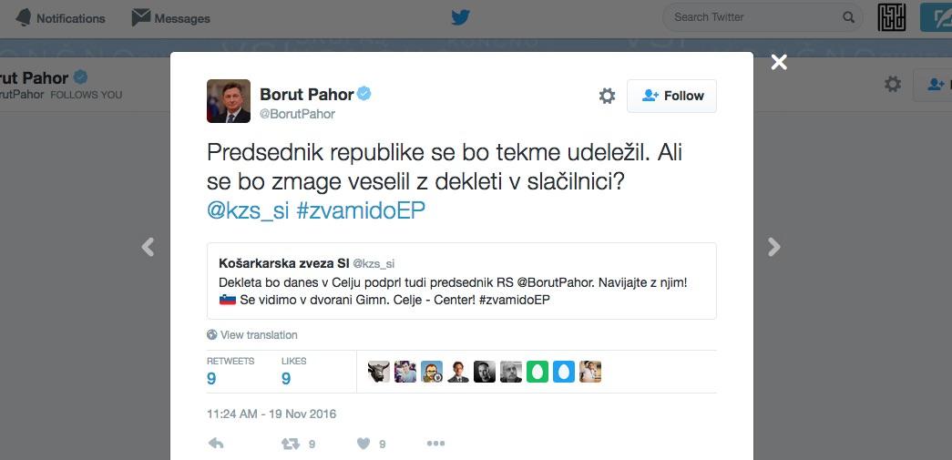 Borut Pahor / Ali se bo zmage veselil z dekleti v slačilnici?