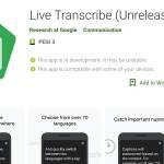 Google Live Transcribe aplikacija ki govor pretvarja v tekst v realnem času
