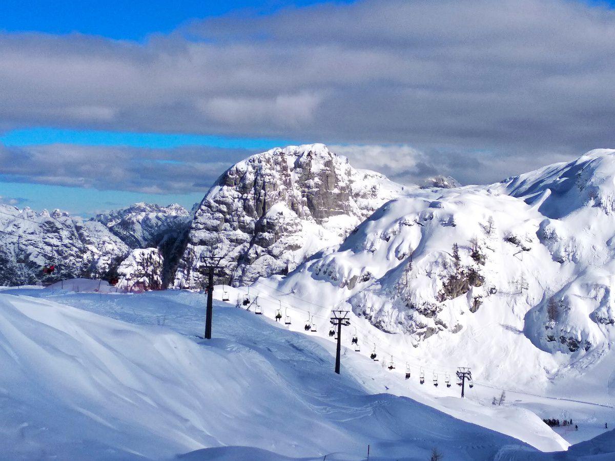 Kanin Sella Nevea smučanje na smučišču z naravnim snegom8