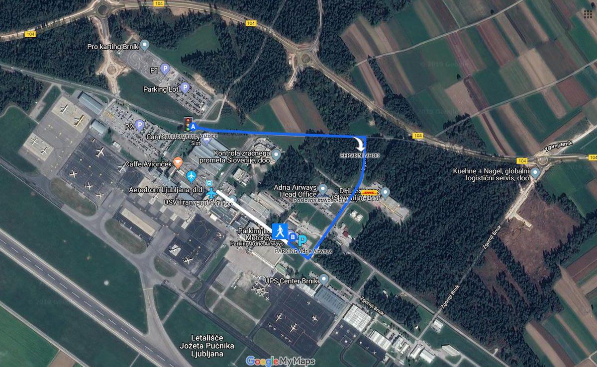 Najcenejše parkiranje na letališču Brnik poceni parkiranje na parkirišču Adrie Airways na Brniku
