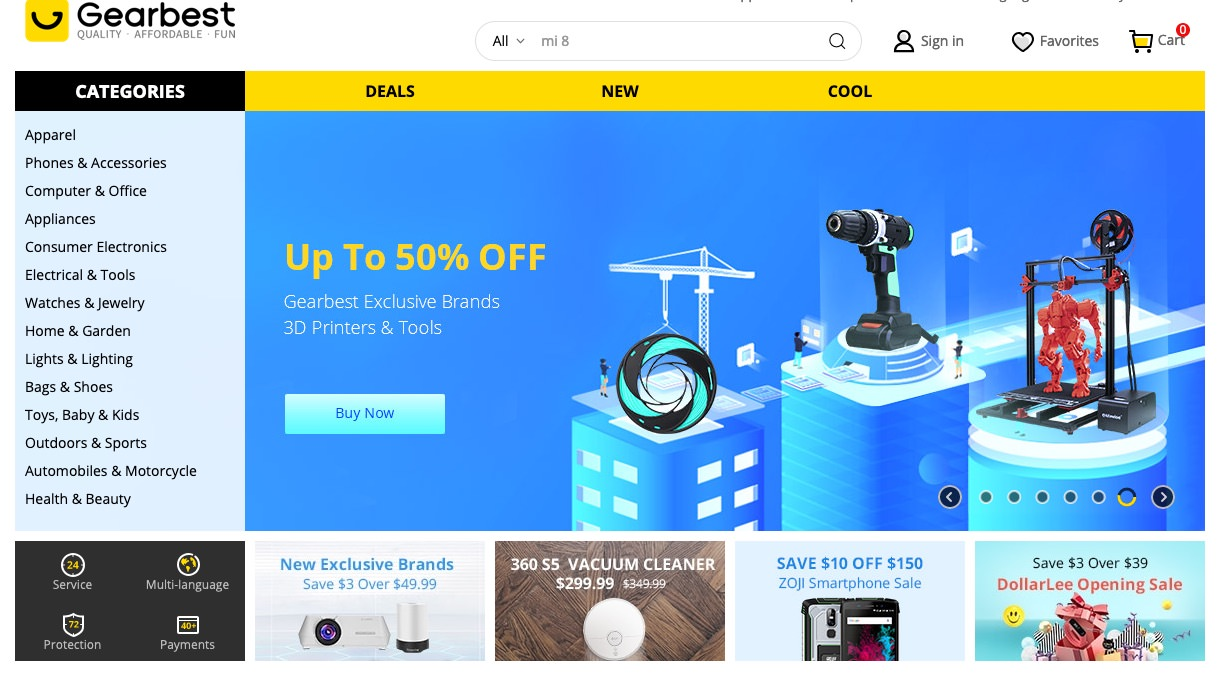 Gearbest Warehouse Locations and links to Warehouse Locations FAST CN HK JP