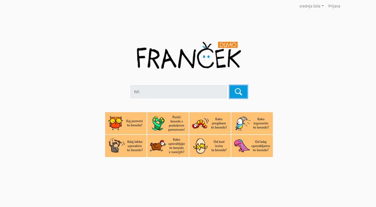 Francek slovar slovenskega jezika za otroke