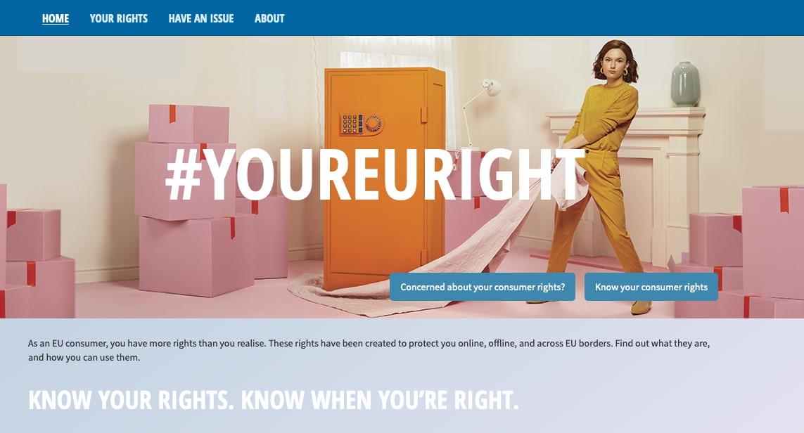 Imas prav yourEUrights kampanja ki potrosnike seznanja s pravicami ki jih imajo v Evropski uniji